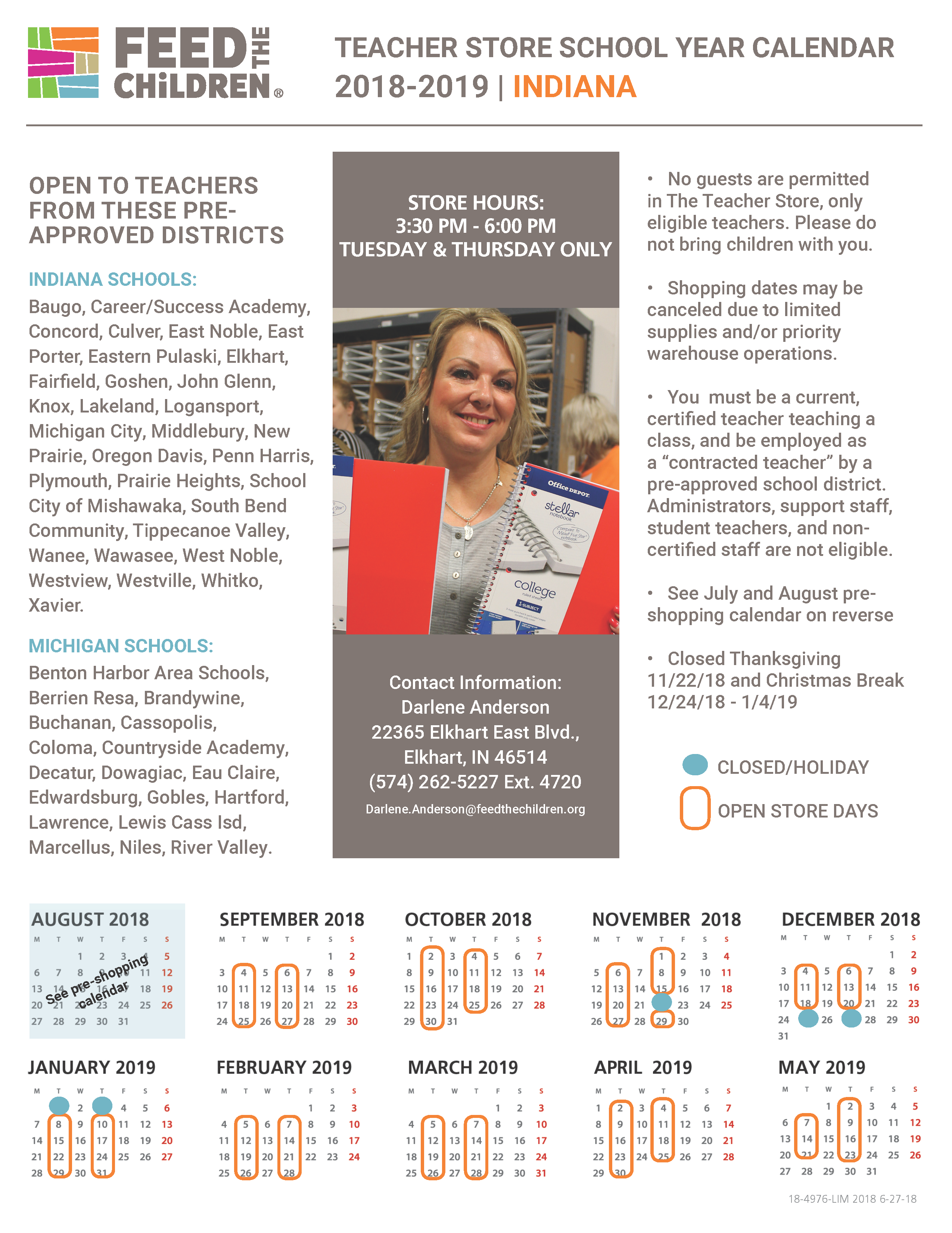 Indiana Teacher Store Page 2